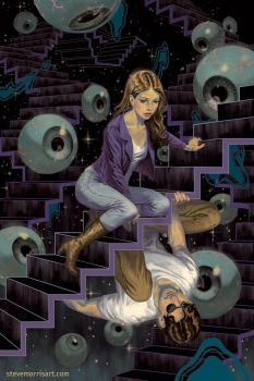 Buffy the Vampire Slayer comic cover, issue 28 S10 by StevenJamesMorris