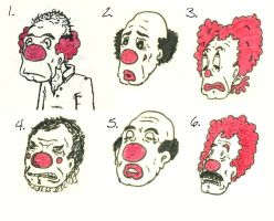 Six Ugly Clowns by 19cartwheels