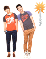 Super Junior ~ Siwon and donghae render by xshawolviVIPx