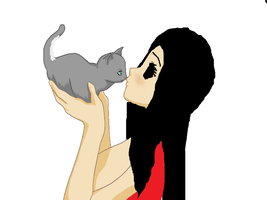 Me and...My new kitty, Janie by Ask-Jane-The-Killer