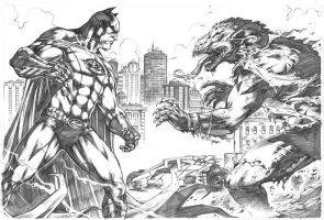 Batman vs Killer Croc by MARCIOABREU7