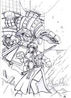 Miaka vs Executioner Lineart by Thurosis