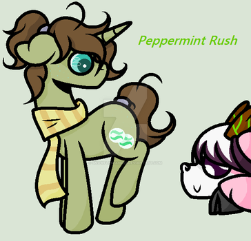MLP OC DRAWING: Peppermint Rush by SnowFl8keAnge1
