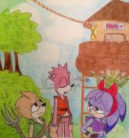 Nu-uH - Some Sonic Boom Characters by deardiana15