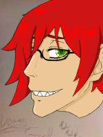 Young Grell Basic Head Shot SAI by lune-brues