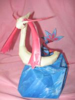 Milotic Papercraft by PrincessStacie