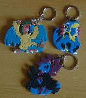 Pokemon Keychain Commissions by SoftMonKeychains