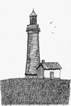 Lighthouse In Pen by Vespayik
