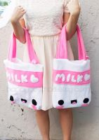 Kawaii Milk Tote by CosmiCosmos