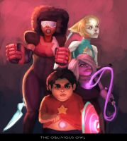 The Crystal Gems (Steven Universe) by TheObliviousOwl