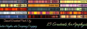Sunset Gradients Pack 1 - Apo and UF by ScorpionzDezignz