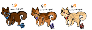 Cat adopts with crystals!(CLOSED) more coming soon by SoulCats