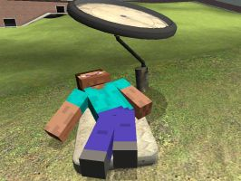 Steve relaxing by SonicTheMinecraftHog
