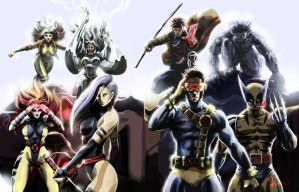 X-Men _8th Line Up by mansarali
