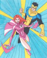 Invincible and Atom Eve by RobertMacQuarrie1