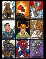MARVEL BEGINNINGS 3 SKETCH CARDS by JASONS21
