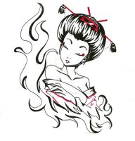 Geisha by heartandbonebreaker