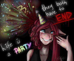 Life is a party... + Speed Paint! by IDeathhoundI