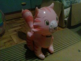 My Inflatable Custard Cat Toy 11 by PoKeMoNosterfanZG