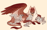 Gryphon with babs by fancypigeon