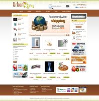 Urban Gifts - Magento Template Design by artistsanju