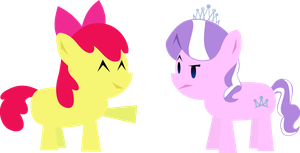 Simple Diamond Tiara and Apple Bloom by MetaTiara