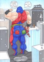 flab and girthy arrow get atom smashed by prisonsuit-rabbitman