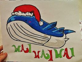 Christmas Wailord by Panicatthedisco7
