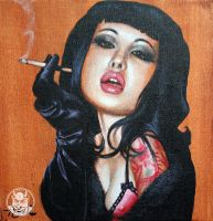 Smokin' Masuimi.. by DrSizzle by Pin-ups