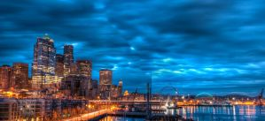 Surreal Seattle Panorama by UrbanRural-Photo