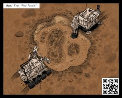 Mars' Red Fossils by Purple-Plasmid