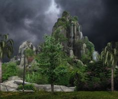 Fantasy Mountian Background by mysticmorning