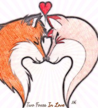 Two Foxes in Love by Seth-Nisuo