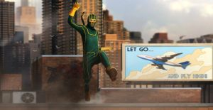 KICK ASS - ROOF JUMPING by DanLuVisiArt