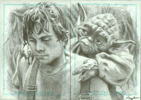 Luke and Yoda by HaydenDavis