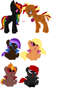 Moonbow breedable foals #4 by KaylaponyArtist