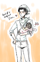 Rivaille babysits Eren by hyokka