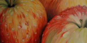 Apples - Oil Painting by hillofsand