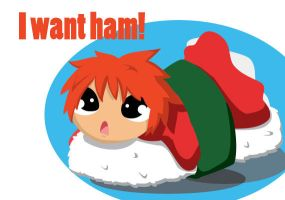 I want ham! by Mirumitsu