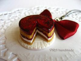 Cute cherry cake by virahandmade