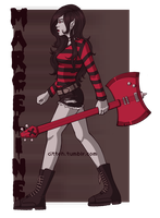 Marceline and Axe Guitar by Ouchez