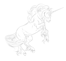 Unicorn Lineart Tag by Ilyana88