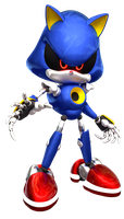 Metal Sonic 3D by Fentonxd