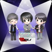 Chibi JYJ at White Day by iamMiki