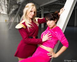 Zapp Brannigan and Amy Wong - Futurama by Paper-Cube
