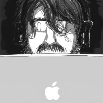 Thomas and his Macbook Air by gerre