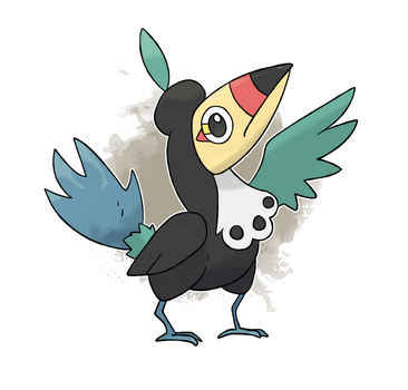 Fakemon #24 - Toucachic by DevilDman