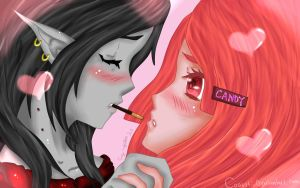 Pocky Time with PB and Marcy - Bubbline - by coausti
