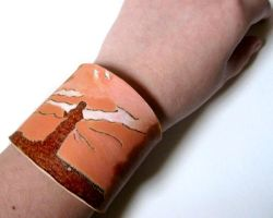 Scarlett O'Hara Gone With The Wind Leather Cuff by ange-etrange