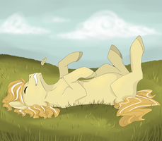 Rolling in the grass by Brielleo